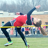 WARREN DILLAWAY / Star Beacon<br /> MICHELLE GAGGIANO of Edgewood high jumps on Tuesday afternoon during a six team track meet at Pymatuning Valley in Andover Township.