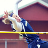 WARREN DILLAWAY / Star Beacon<br /> TAYLOR GRITZER of Conneaut high jumps on Tuesday afternoon during a six team track meet at Pymatuning Valley in Andover Township.