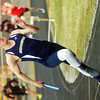 WARREN DILLAWAY / Star Beacon<br /> TOMMY MANNING anchors the Conneaut 4 x 200 meter relay on Tuesday afternoon during a six team track meet at Pymatuning Valley in Andover Township.