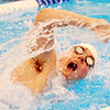 WARREN DILLAWAY / Star Beacon<br /> MATT CANTOR of Jefferson competes in the 200 yard medley relay on Saturday during the Ashtabula County Swim Meet at Spire Institute in Harpersfield Township.