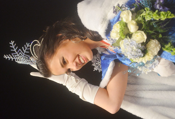 WARREN DILLAWAY / Star Beacon<br /> CORRINE STEPHENS, a sophomore at Geneva High School, was crowned Miss Winterfest on Saturday night at Geneva High School.