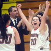 WARREN DILLAWAY / Star Beacon<br /> ABREA FURMAN (20) of Edgewood celebrates a Division II sectional championship win on Thursday night at Edgewood.
