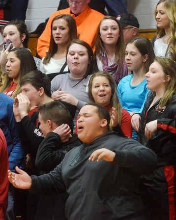 WARREN DILLAWAY / Star Beacon<br /> JEFFERSON FANS get fired up on Tuesday night at Edgewood.