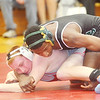 WARREN DILLAWAY / Star Beacon<br /> KEITH GRIFFIN (top) of Lakeside controls Zach Wilpula of Edgewood during a  138 pound bout  at Edgewood on Thursday night.