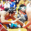WARREN DILLAWAY / Star Beacon<br /> CHRIS CROWLEY JR. of Lakeside (right) wrestles Nate Jones of Edgewood on Thursday night prior to a 160 pound bout at Edgewood.