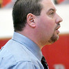 WARREN DILLAWAY / Star Beacon<br /> EDGEWOOD GIRLS Basketball Coach Steve Kray watches the action on Saturday afternoon during a home game with Brookfield.