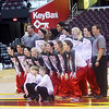 WARREN DILLAWAY / Star Beacon<br /> THE EDGEWOOD Warriors take pictures prior to a game against St. John at Quickent Loans Arena in Clevelandd.