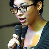 WARREN DILLAWAY / Star Beacon<br /> MISHELE MATLOCK, a student at Lakeside High School, speaks during a Kiwanis Club Martin Luther King Jr. breakfast at St. Peter's Episcopal Church in Ashtabula on Monday morning.