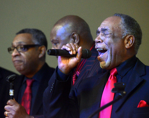 WARREN DILLAWAY / Star Beacon<br /> OTIS SANDIDGE, of the Peoples Missionary Baptist Church Mens Choir, sings during a Kiwanis Club Martin Luther King Jr. breakfast at St. Peter's Episcopal Church in Ashtabula on Monday morning.