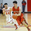 WARREN DILLAWAY / Star Beacon<br /> LUCAS HITCHCOCK (31) of Jeffferson leads a fastbreak with Felix Rivera of Geneva in hot pursuit on Saturday at Geneva.