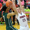 WARREN DILLAWAY / Star Beacon<br /> MASON LILJA (13) of Edgewood defends Isaiah of Lakeside on Tuesday night at Edgewood.