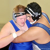WARREN DILLAWAY / Star Beacon<br /> BLAKE JEROME (left) of Madison wrestles Austin Mathis of Grand Valley on Saturday during a 285 pound bout at the Perry Pin City Tournament.