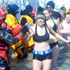 WARREN DILLAWAY / Star Beacon<br /> LAKESIDE HIGH SCHOOL students participate in the Polar Bear Plunge on Saturday at Geneva State Park. The event raised an estimated $90,000 for Special Olympics Ohio.