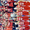 THE GENEVA Eagles girls basketball team poses with fans after losing to West Branch on Saturday during a Division II regional final in Barberton.