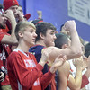 GENEVA GIRLS basketball fans get fired up during a Division II regional final at Barberton.