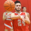 WARREN DILLAWAY / Star Beacon<br /> FELIX RIVERA of Geneva passes the ball on Tuesday night during a Division II sectional semifinal game at Edgewood.