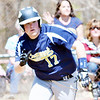 WARREN DILLAWAY / Star Beacon<br /> BEN MITTLESTADT of Conneaut breaks toward first base on Saturday afternoon during a home game against Lakeside at Skippon Park.