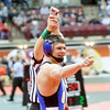 WARREN DILLAWAY / Star Beacon<br /> Grand Valley's Cody Rhoades reacts after winning a 138 pound consolation match on Friday morning at the Ohio High School State Wrestling Tournament at the Schottenstein Center in Columbus.