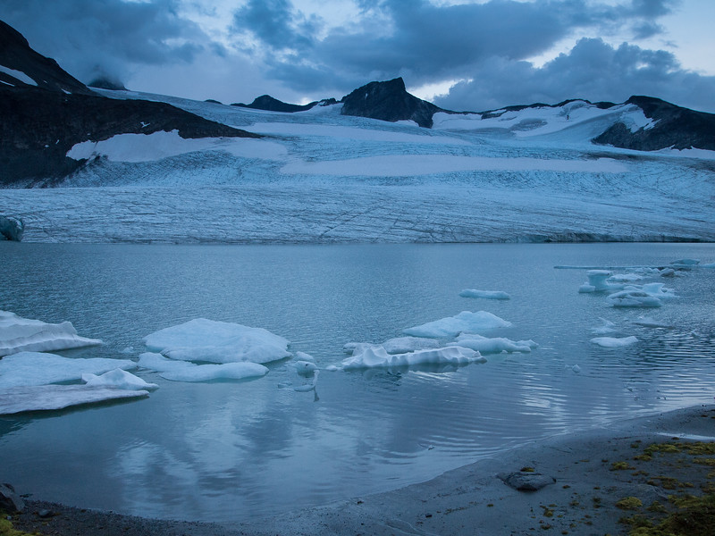 Leirbrean glacier.  Skeie mountain behind. Jotunheimen National Park. Norway.
