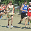 WARREN DILLAWAY / Star Beacon<br /> A GROUP of runners compete during the War on the Shore Cross Country Invitational at Lake Shore Park in Ashtabula on Monday afternoon.