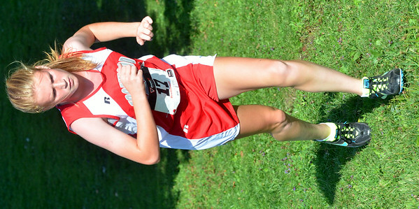 WARREN DILLAWAY / Star Beacon<br /> ANDREA ZUCCARO of Edgewood runs the War on the Shore Cross Country Invitational at Lake Shore Park in Ashtabula on Monday afternoon.