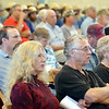 WARREN DILLAWAY / Star Beacon<br /> MORE THAN 350 people attended a Thursday evening meeting to discuss the upcoming tax increase to land used    for farming.