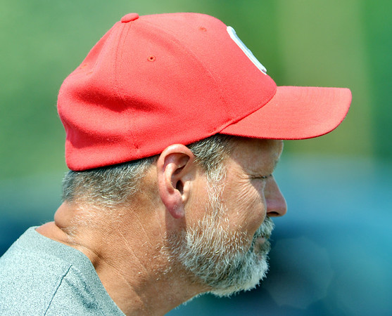 WARREN DILLAWAY / Star Beacon<br /> BRIAN O'DELL, Geneva soccer coach, watches his team on Saturday at Edgewood.