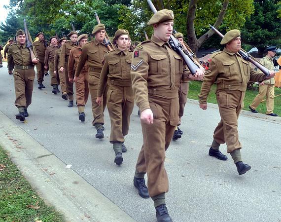 WARREN DILLAWAY / Star Beacon<br /> BRITISH RE-ENACTORS prepare for battle on Saturday at D-Day Conneaut at Conneaut Township Park.