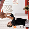 WARREN DILLAWAY / Star Beacon<br /> SAM CASKEY competes in the slam dunk competition during the Reindeer Games at Jefferson High School on Friday.