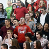 WARREN DILLAWAY / Star Beacon<br /> JEFFERSON HIGH School students compete in a Christmas carol singing competition during Reindeer Games on Friday in Jefferson.