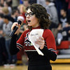 WARREN DILLAWAY / Star Beacon<br /> MEGAN YAZWINSKI was the cheerleader emcee for the Reindeer Games at Jefferson High School on Friday.
