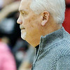 WARREN DILLAWAY / Star Beacon<br /> JOHN BOWLER, Edgewood boys basketball coach, watches the action on Friday evening during a  game in Jefferson.