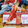 WARREN DILLAWAY / Star Beacon<br /> RYAN MACKYNEN of Geneva dribbles up court on Saturday night during a game at Edgewood.