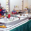 WARREN DILLAWAY / Star Beacon<br /> BILL HAMILTON (right) and his grandsons Ty, 9, (left) and Wyatt, 7, both of Ashtabula, operate one of several model train demonstrations at the Jefferson Historical Society on Saturday. The free event will be open 9 a.m. to 4 p.m. on December 13.
