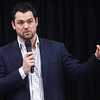 WARREN DILLAWAY / Star Beacon<br /> JOE JUREVICIUS, a Lake HIgh School and Penn State University graduation who won a Super Bowl with the Tampa Bay  Buccaneers, was the speaker at the Ashtabula County Touchdown Club 45th Annual Awards Dinner at Our Lady of Peace Community Center on Monday night.