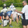 WARREN DILLAWAY / Star Beacon<br /> DOM IAROCCI, St. John football coach, presides over the   first day of football practice on Friday at Massucci  Field in Ashtabula.