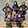 WARREN DILLAWAY / Star Beacon<br /> THE CONNEAUT cheerleaders include (from left front row) Hanna Merlene, Rylie Pryately, Morgan Holtzman. (From left second row) Ashley Alexander, Courtney Coe. (From left third row) Kennedy Rogers, Taylor Martin and Sierra Brink.