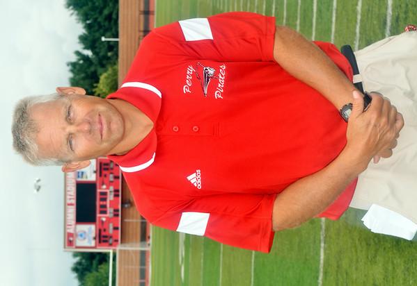 WARREN DILLAWAY / Star Beacon<br /> MATT ROSATI, Perry football coach, prepares for the 2014 season.