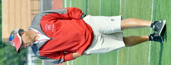 WARREN DILLAWAY / Star Beacon<br /> MATT ROSATI, Perry football coach, will be leading the Pirates into the 2014 season.