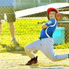 WARREN DILLAWAY / Star Beacon<br /> CHARLIE WADE of Madison gets out of the way of a pitch on Thursday evening during minor league all-star action against Grand Valley at Madison.