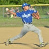 WARREN DILLAWAY / Star Beacon<br /> DMITRI DRAGAS of Madison pitches during minor league all-star action against Grand Valley on Thursday evening at Madison.