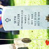 WARREN DILLAWAY / Star Beacon<br /> A NEW tombstone for Seth Hillyer, who served inn the Revolutionary War, was unveiled on Friday during a ceremony sponsored by the Northeast Ohio Chapter of the Sons of the American Revolution and held at Andover Congregational Church Cemetery.