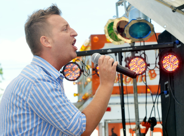 WARREN DILLAWAY / Star Beacon<br /> BOBBY BELCHER competes in the Best of the Best Conneaut Idol on Saturday at the Conneaut Fourth of July Festival.