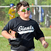 WARREN DILLAWAY / Star Beacon<br /> ANDY GRIPPI of the Giants runs off the field during a Minor League game at Cederquist Park on Monday evening in Ashtabula.