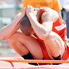 WARREN DILLAWAY / Star Beacon<br /> DAVID CHASE of Jefferson reacts after his last during the Division II high jump competition during the Ohio High School Athletic Association State Track Meet in Columbus on Saturday.