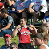 WARREN DILLAWAY / Star Beacon<br /> MATT FITCHET of Edgewood walks in to the crowd between throws during the Division II State Track Meet in Columbus.