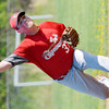 WARREN DILLAWAY / Star Beacon<br /> STEVE PERKIO of Edgewood pitches on Friday during a Division II sectional championship home game with Perry.