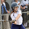 WARREN DILLAWAY / Star Beacon<br /> LEXI CAMPBELL of Conneaut keeps an eye on the ball on Thursday during a Division II district semifinal  at the Jefferson Area Girls Softball Complex.