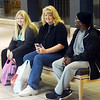 WARREN DILLAWAY / Star Beacon<br /> SHOPPERS WAIT for Radio Shack to open early on Friday moring at Ashtabula Towne Square in Ashtabula Township. (From left) Emily Millard, Lynne Millard, both of Pierpont Township, and V.J. Johnson of Ashtabula.