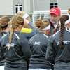 WARREN DILLAWAY / Star Beacon<br /> BRIAN O'DELL talks to his girls soccer team before a Saturday afternoon match with Parma.